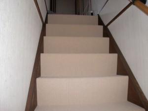 横浜市W様邸階段カーペット張替・トイレリフォーム工事 じゅうたん張り替えました