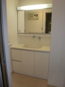 相模原市T様邸 マンションのリフォーム 洗面台設置完了